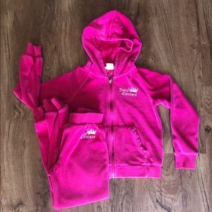 Juicy Couture hooded sweatshirt & matching joggers